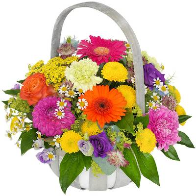 Bright summer basket
